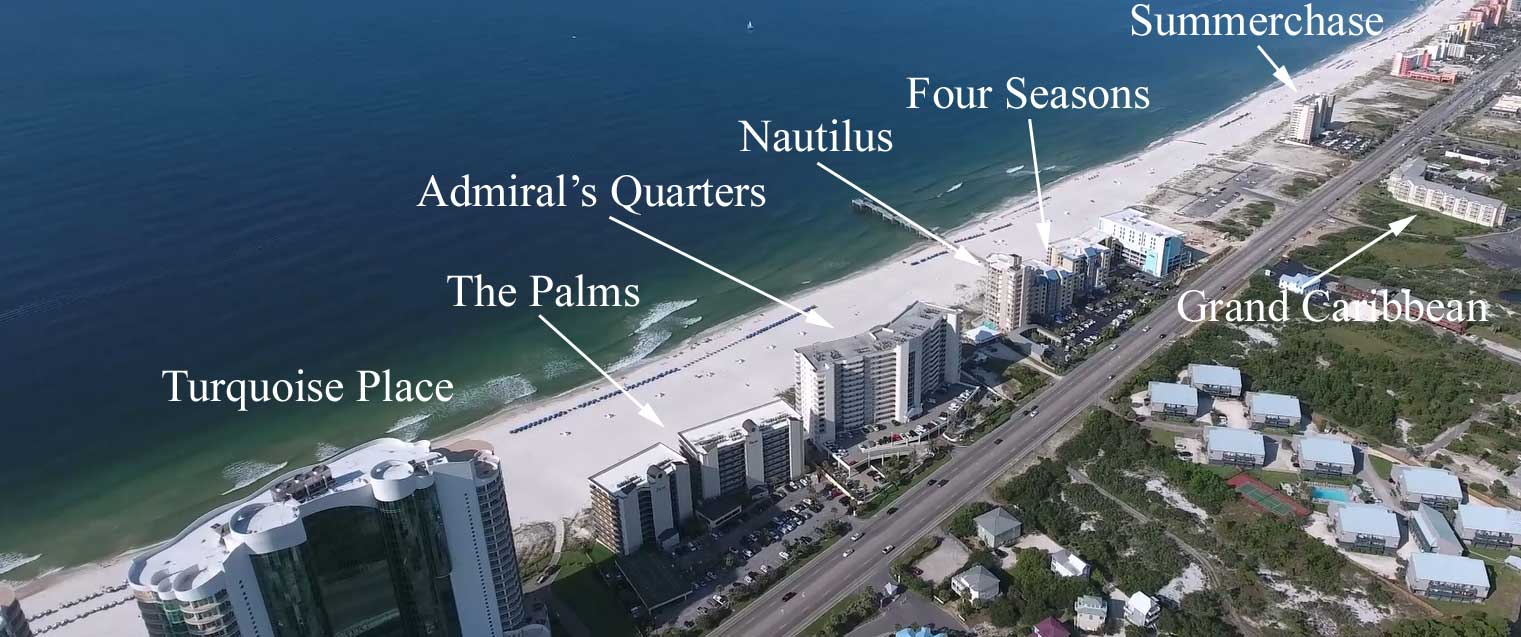 Aerial Condo Map Of Orange Beach Real Estate