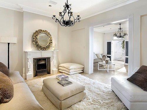 Off white living room