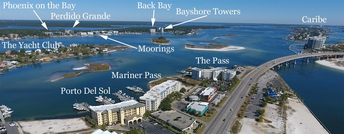 Aerial Condo Map Of Orange Beach Real Estate