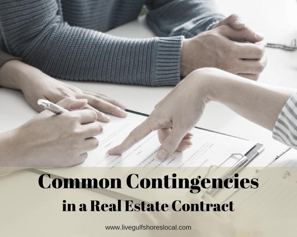 Common Contigencies in a Real Estate Contract