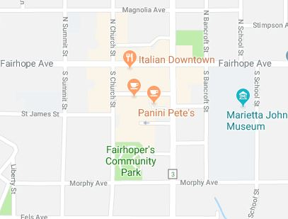Downtown Fairhope Map