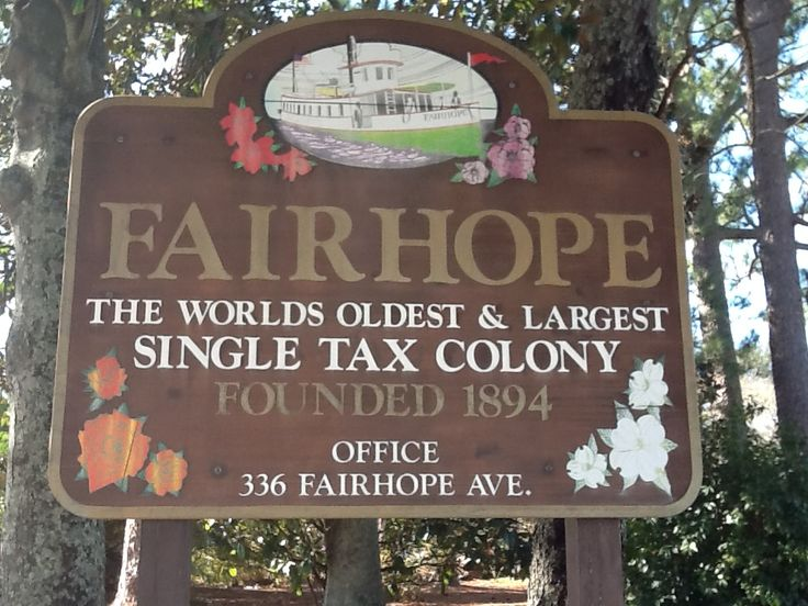 Fairhope established sign
