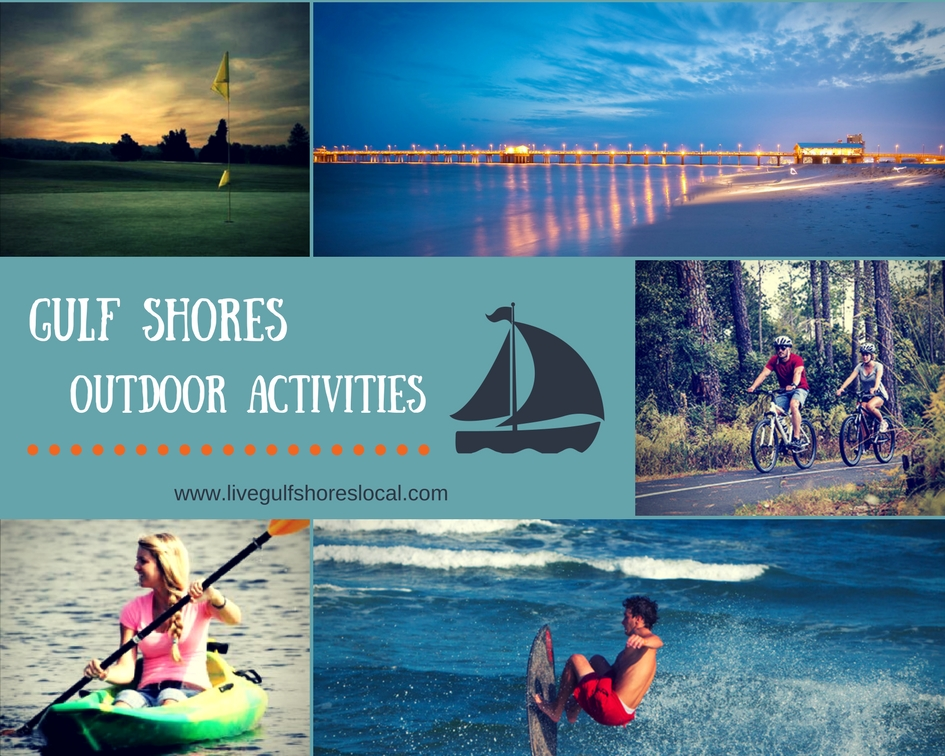 Gulf Shores Outdoor Activities Collage