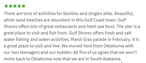 Gulf Shores Review