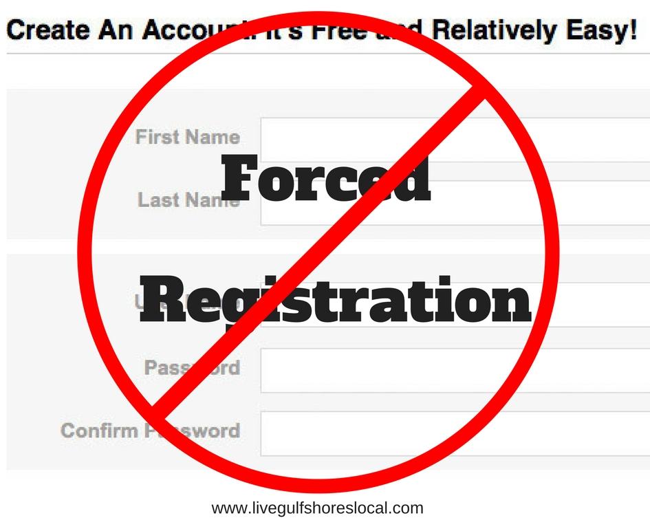 No Forced Registration
