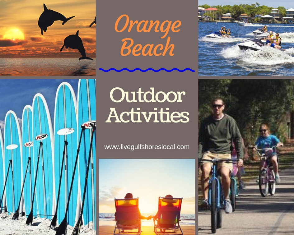 Orange Beach Outdoor Activities Collage