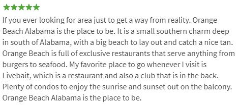 Orange Beach Review