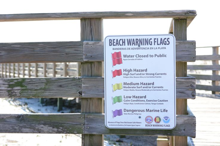 Orange Beach Warning Flags