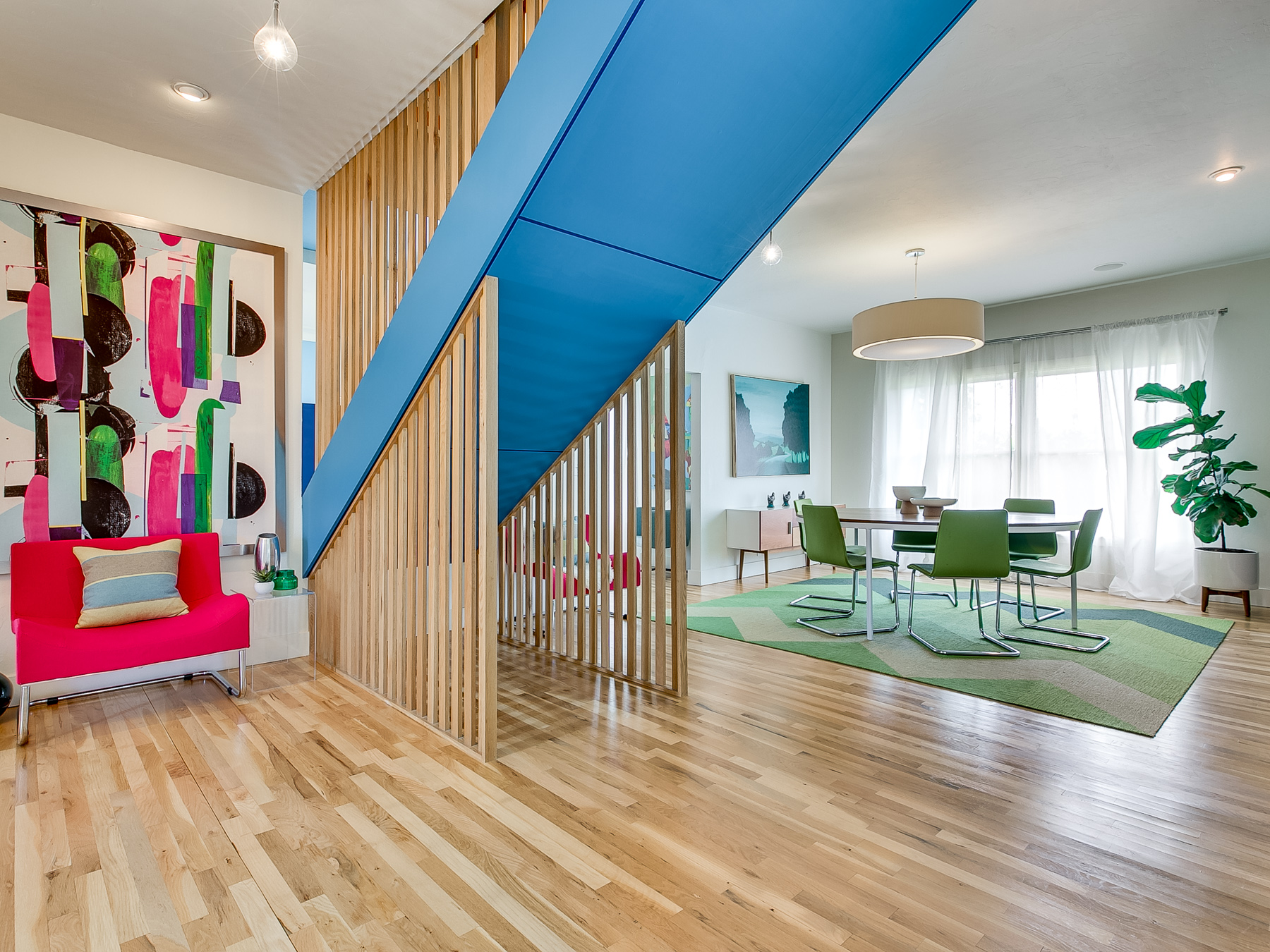 Pop of Color in Modern Renovation