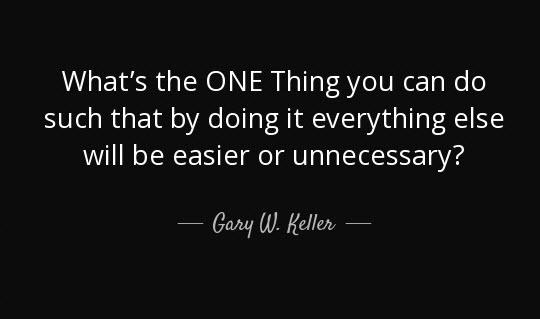 the one thing gary keller pdf free