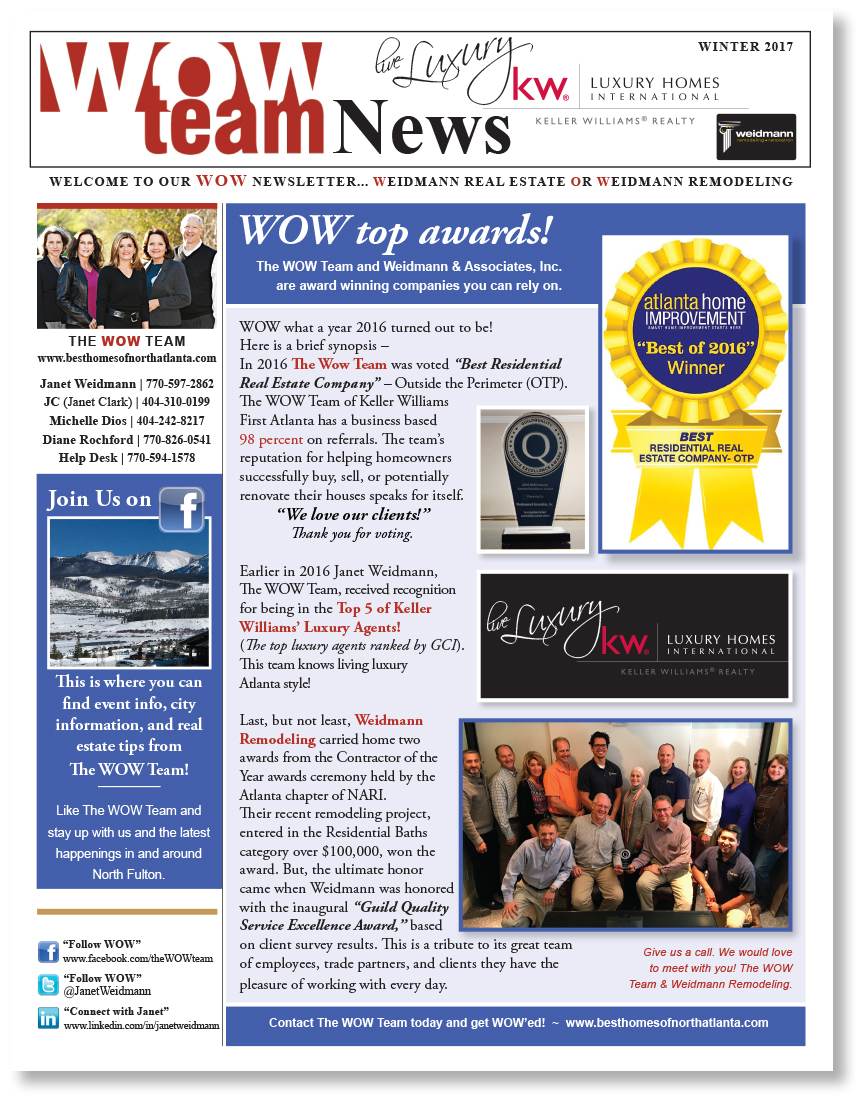 The WOW Team Winter News 2017