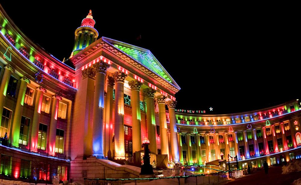 denvers city county building is lit up for the holiday season denvers - Best Christmas Lights Denver