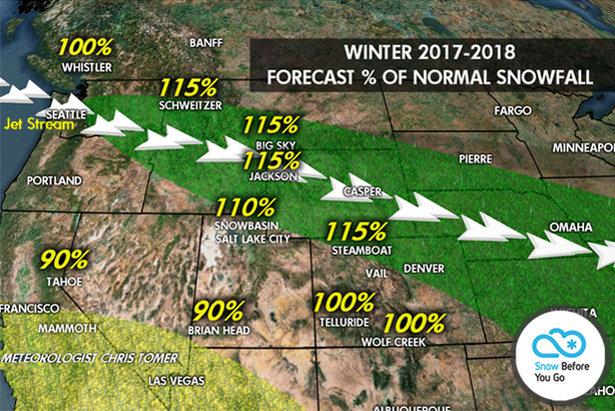 2017-2018 Snow Forcast for Sun Valley, Idaho