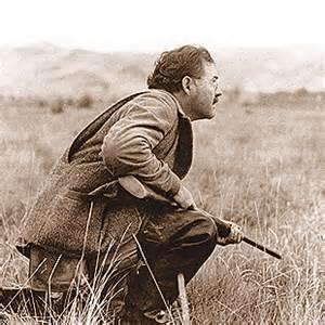 Eanest Hemingway hunting in Idaho