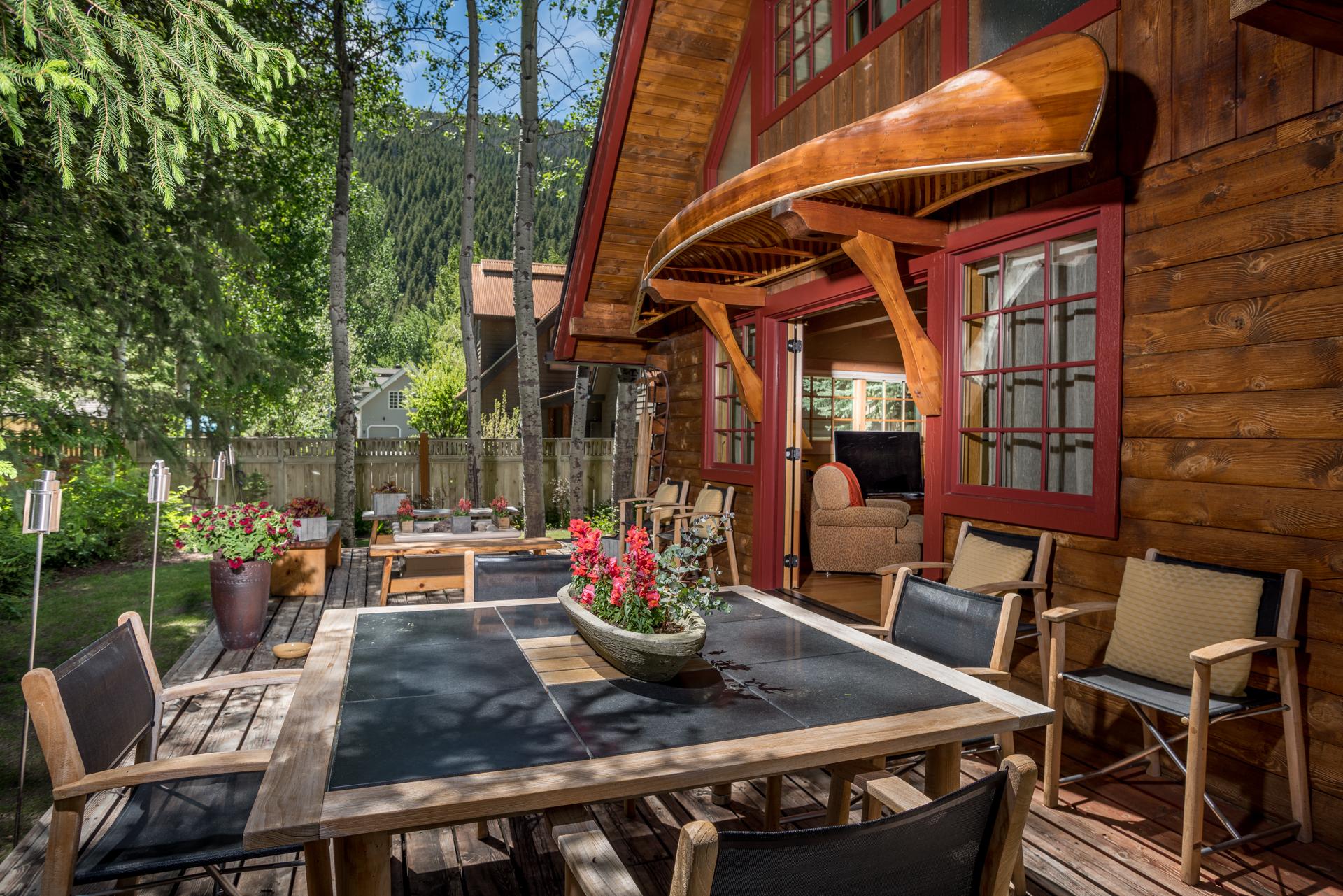 Outdoor Living at 325 Bald Mountain Road in Ketchum, Idaho