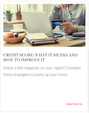 Credit Score Improvement techniques