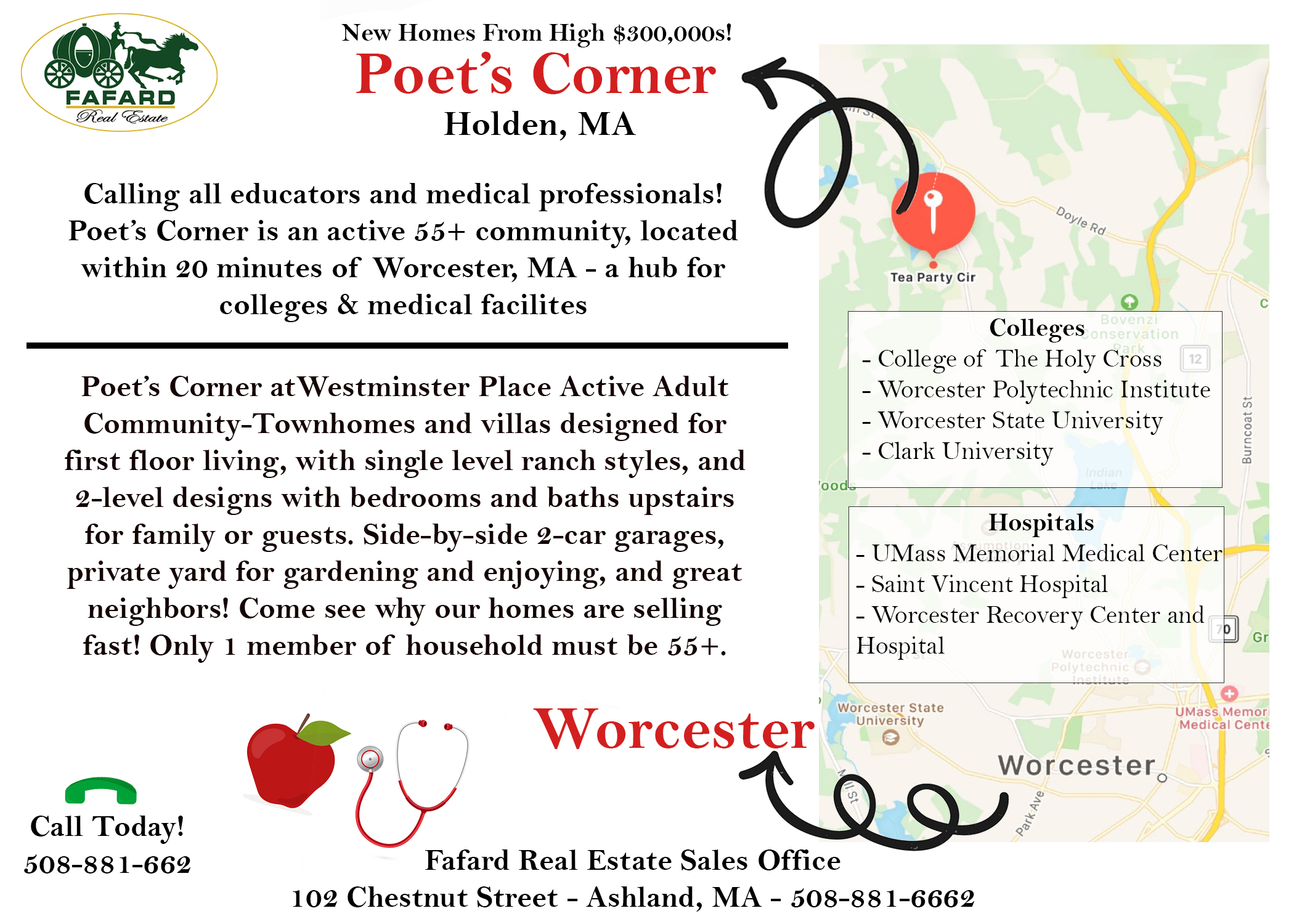 Holden, MA! A great home for Educators and Medical Professionals