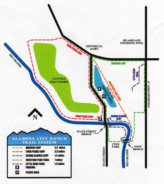 Alamosa Trail map