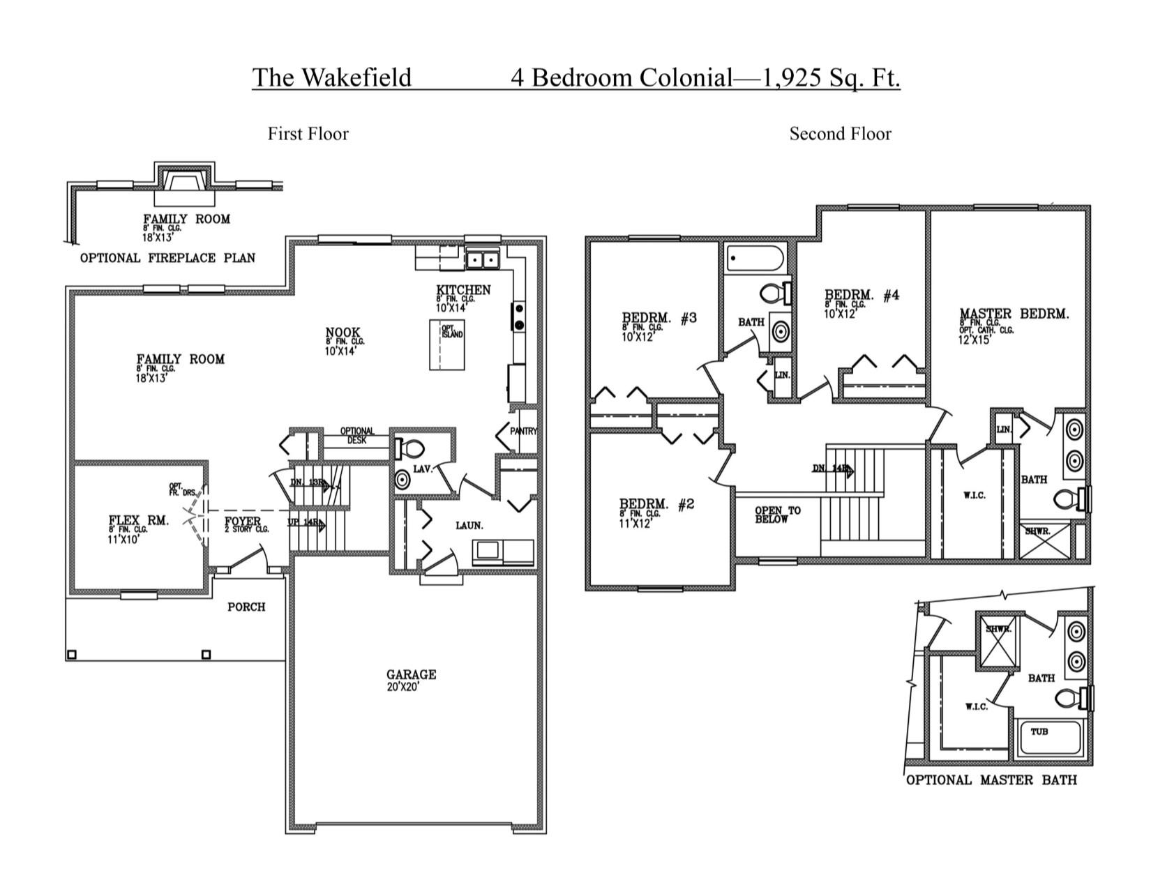 100 Colonial Floor Plan Oxford F House Plan