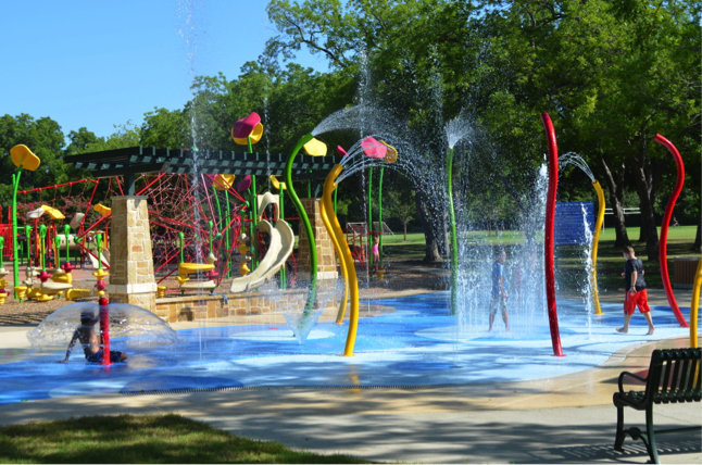 Parr Park Spray Ground in Grapevine