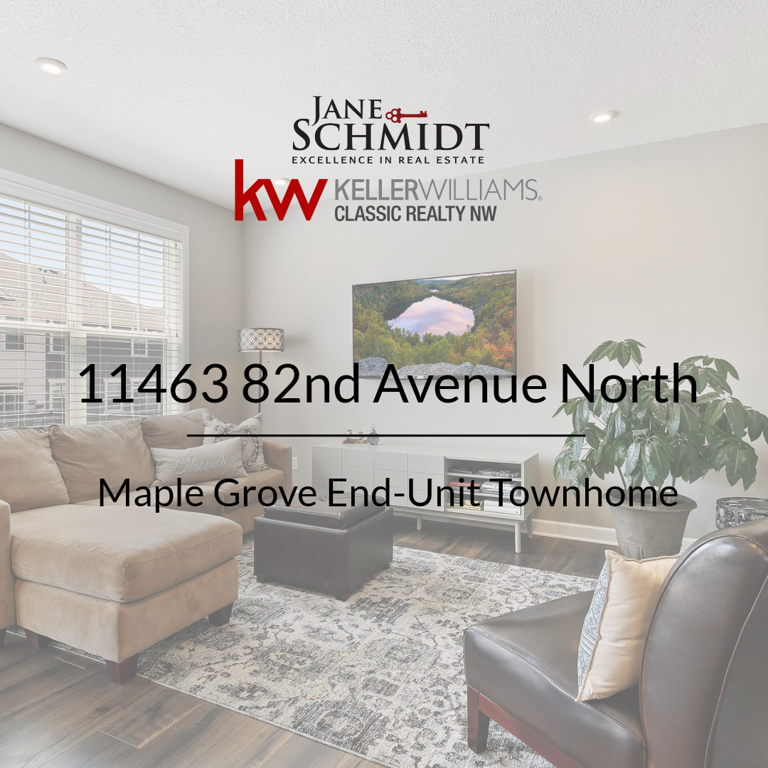 Coming very soon: Maple Grove End-unit Townhouse