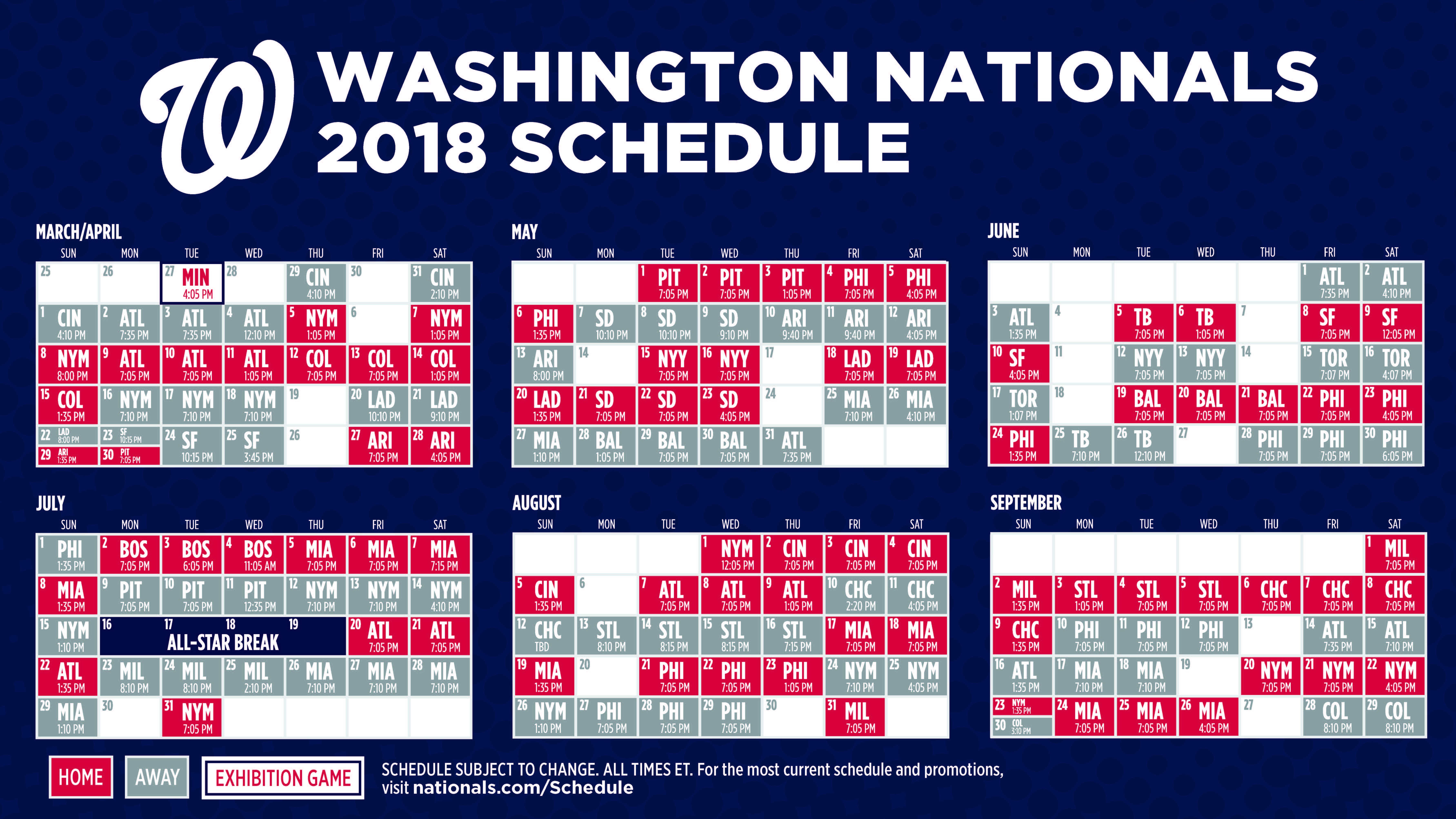 photo relating to Nationals Printable Schedule identified as Nats Time Agenda! - Kristopher Nelson, Real estate agent