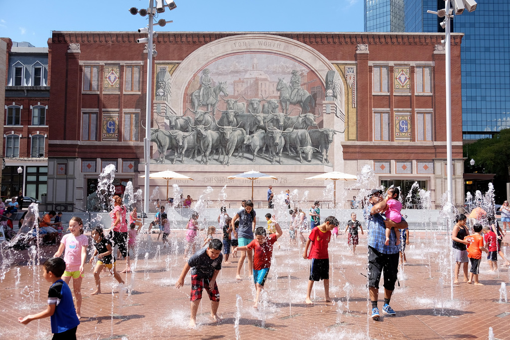 The One Acre Sundance Square Plaza In Downtown Fort Worth, Which Includes A  Stage And A Pavilion, Has Become A Gathering Place With Concerts And Events  ...