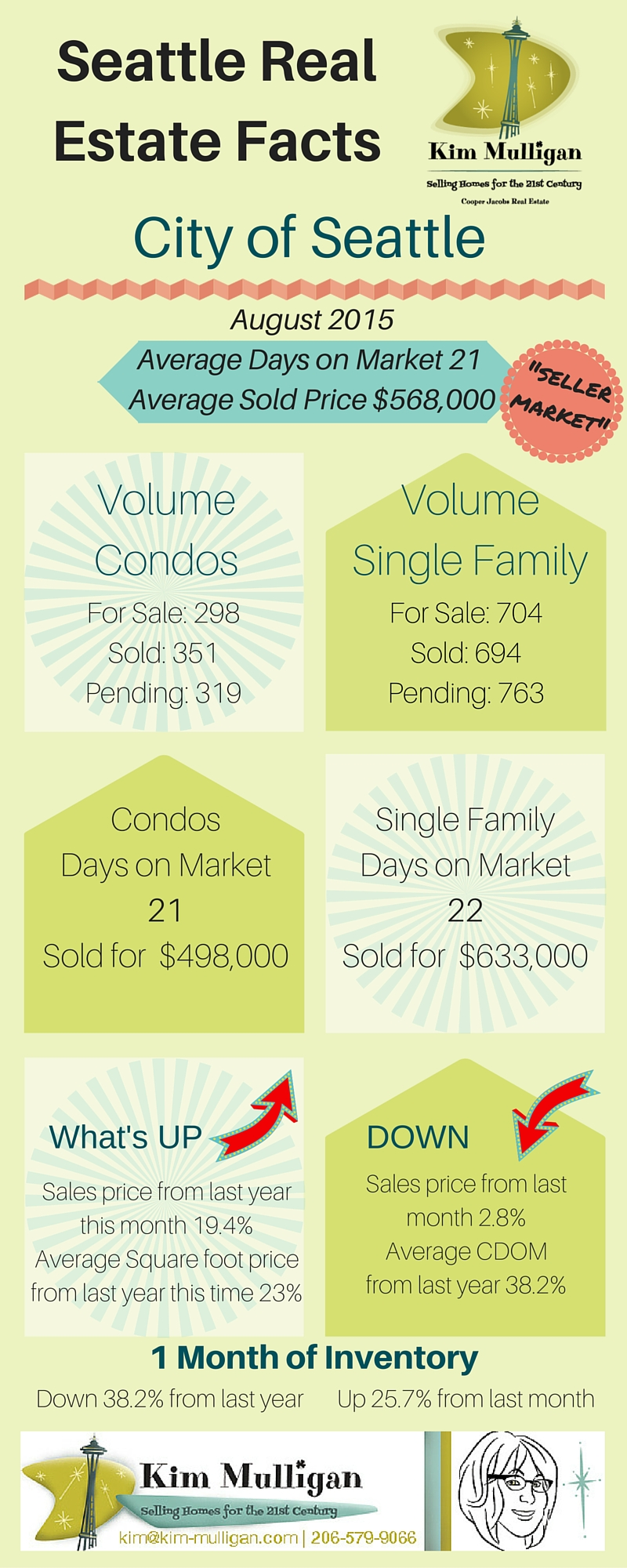 Infographic of Seattle Real Estate Market Information