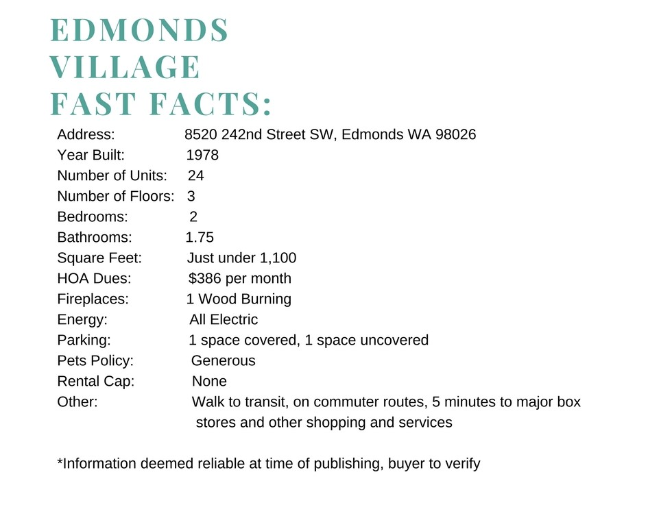 Edmonds Condo Information