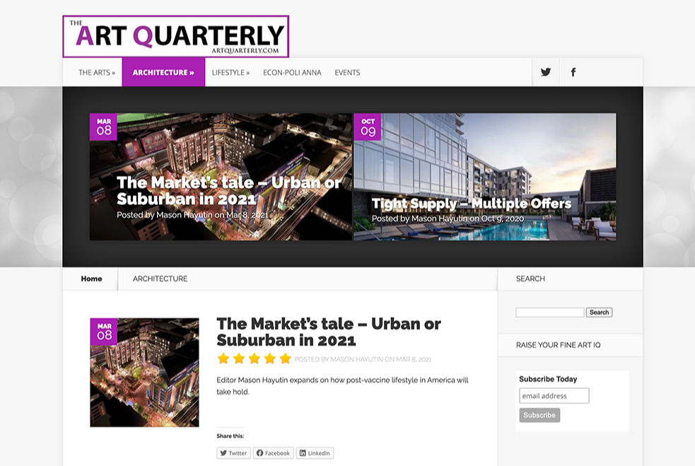 The Art Quarterly - Real Estate News