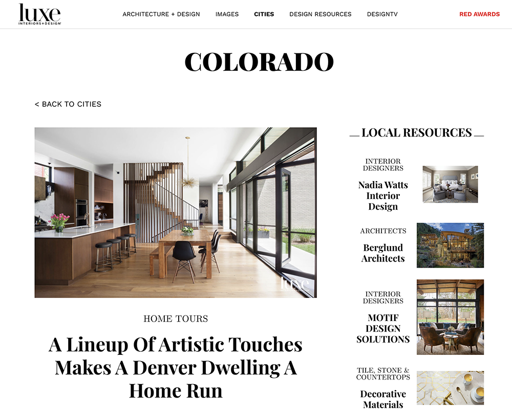 Luxe Magazine - Design and Homes in Colorado