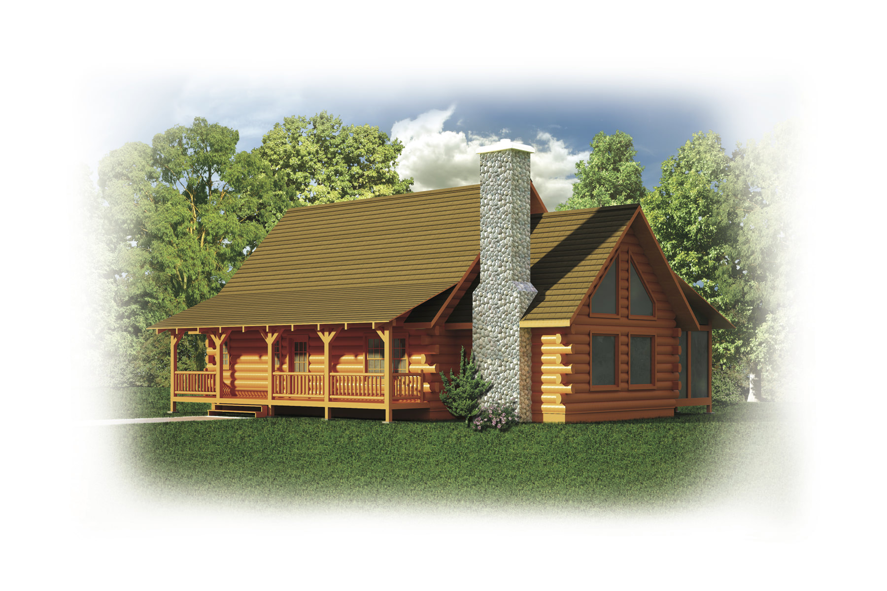 Log home building packages in north conway nh for Home building packages