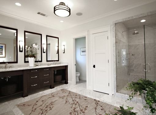the understated master bathroom