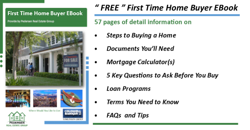 """The link below will take you to The First Time Home Buyer EBook at ISSUU publications """" no registration required """". If you would like a PDF version please reply to this email, Subject Line """" Buyer EBook PDF """". Thank you again for visiting."""