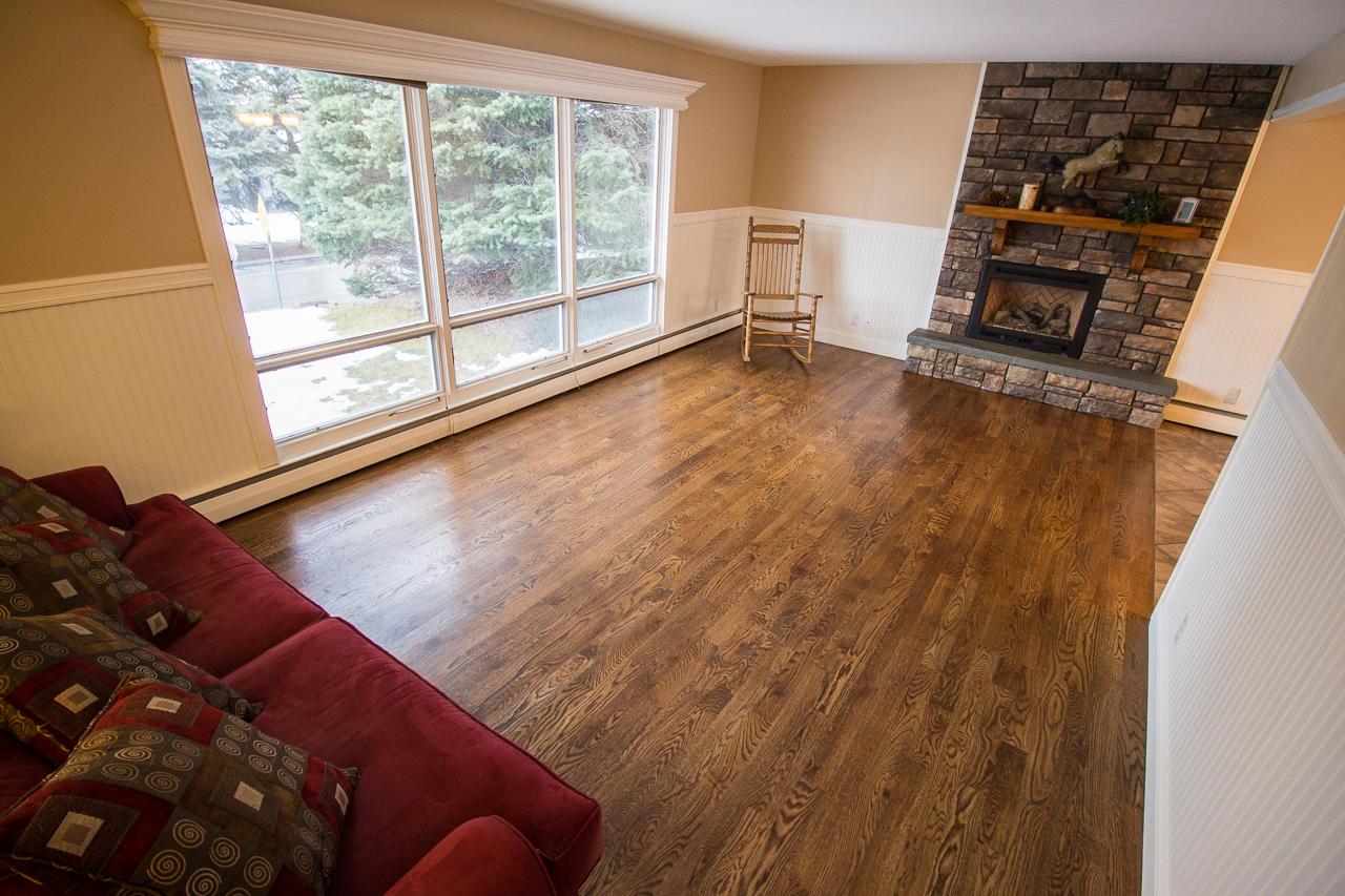 All new oak hardwood floors.