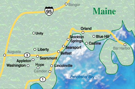 Orland Maine Map.Belfast Real Estate Broker