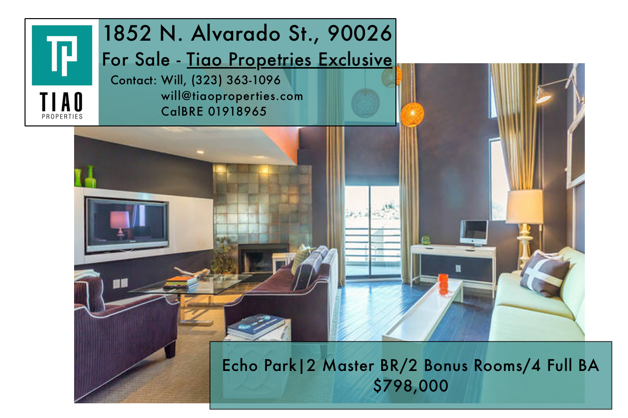 For Sale – 1852 N. Alvarado St., Echo Park (90026) — OFF MARKET AND EXCLUSIVE TO THE COLLECTIVE!
