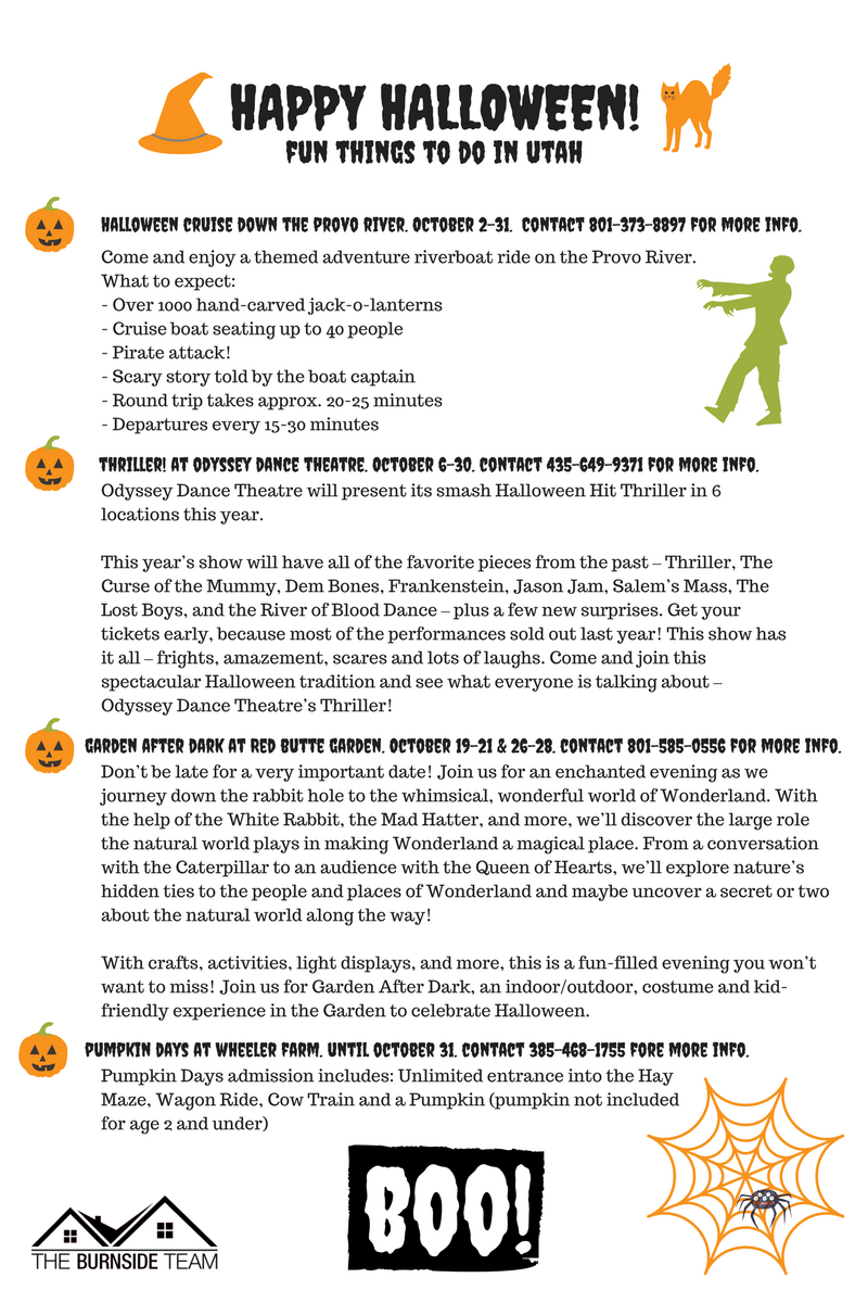 Fun things to do in October for Halloween in Northern Utah