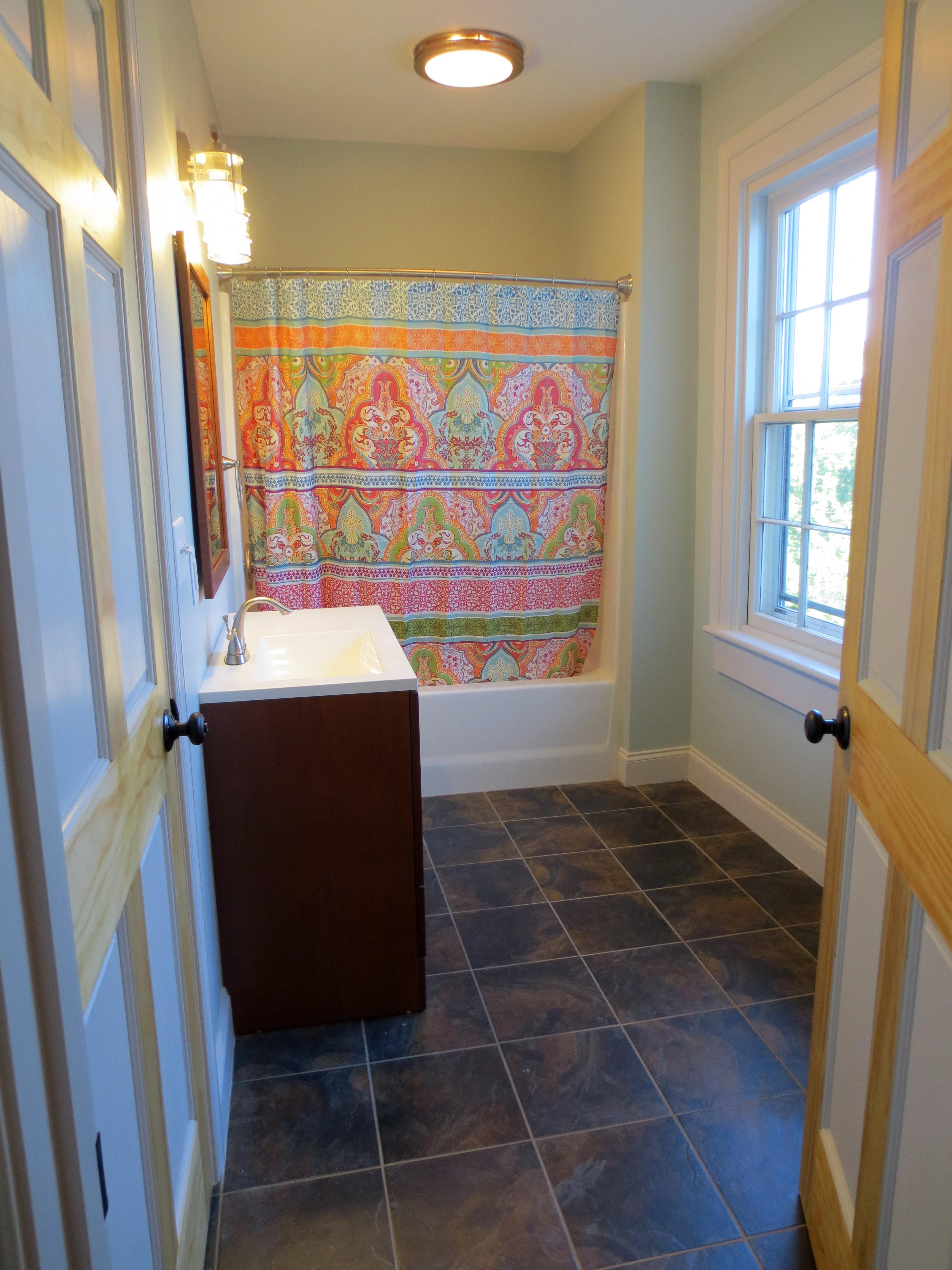The Landmark restored upstairs full bath