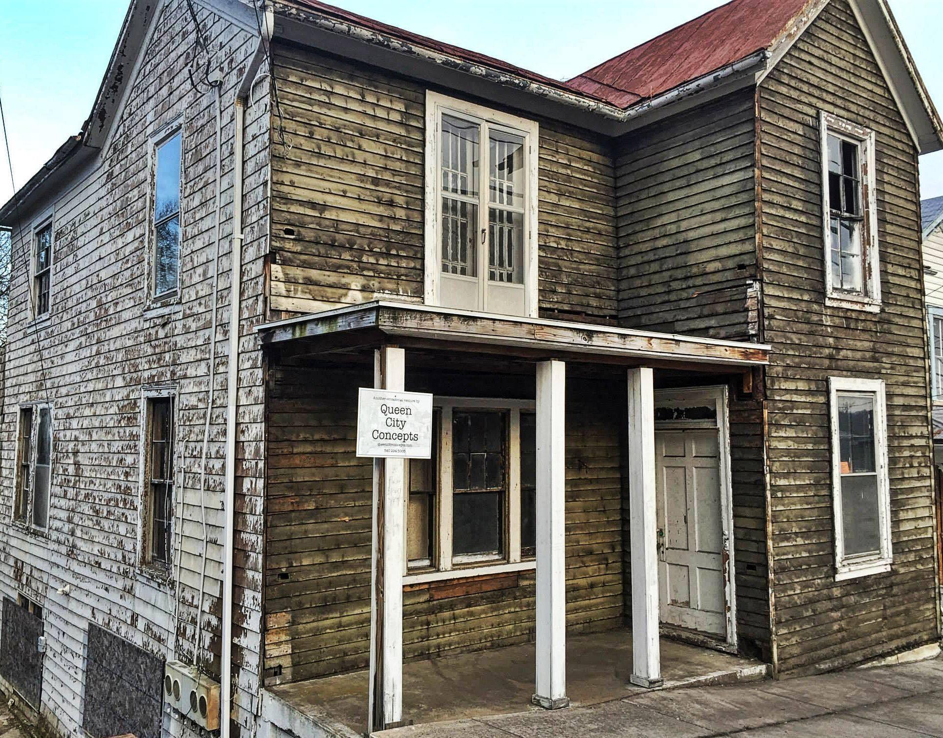 The Landmark pre-restoration: exterior