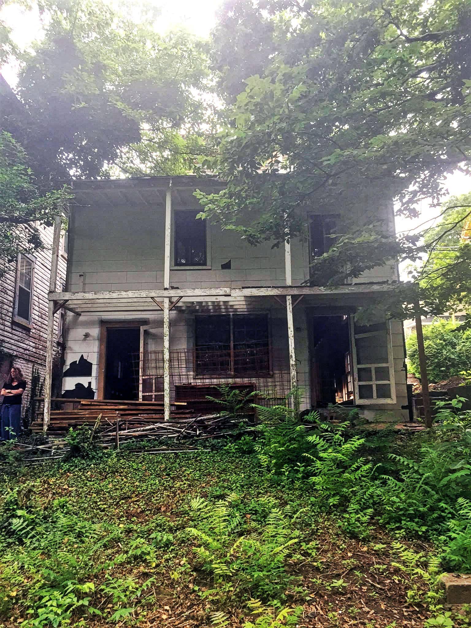 The Landmark pre restoration: back porches