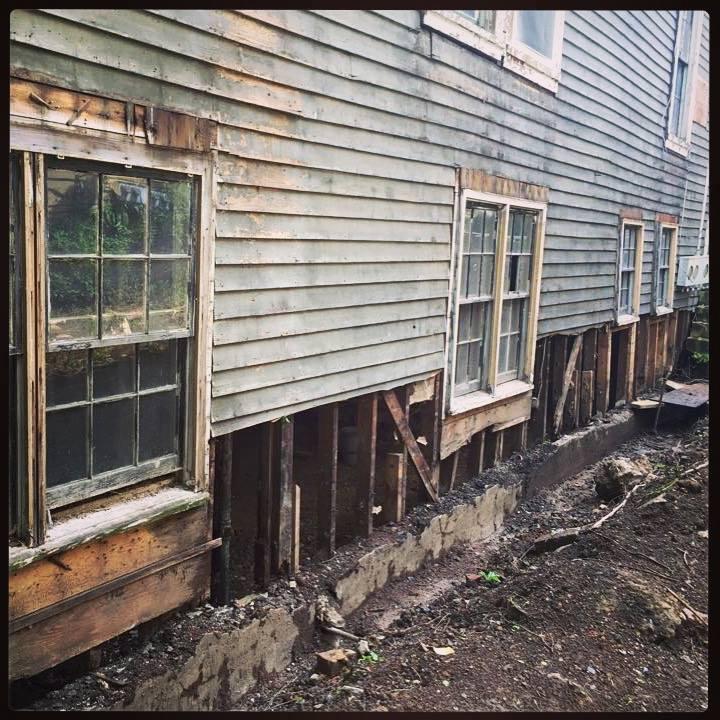 The Landmark pre-restoration: exterior side
