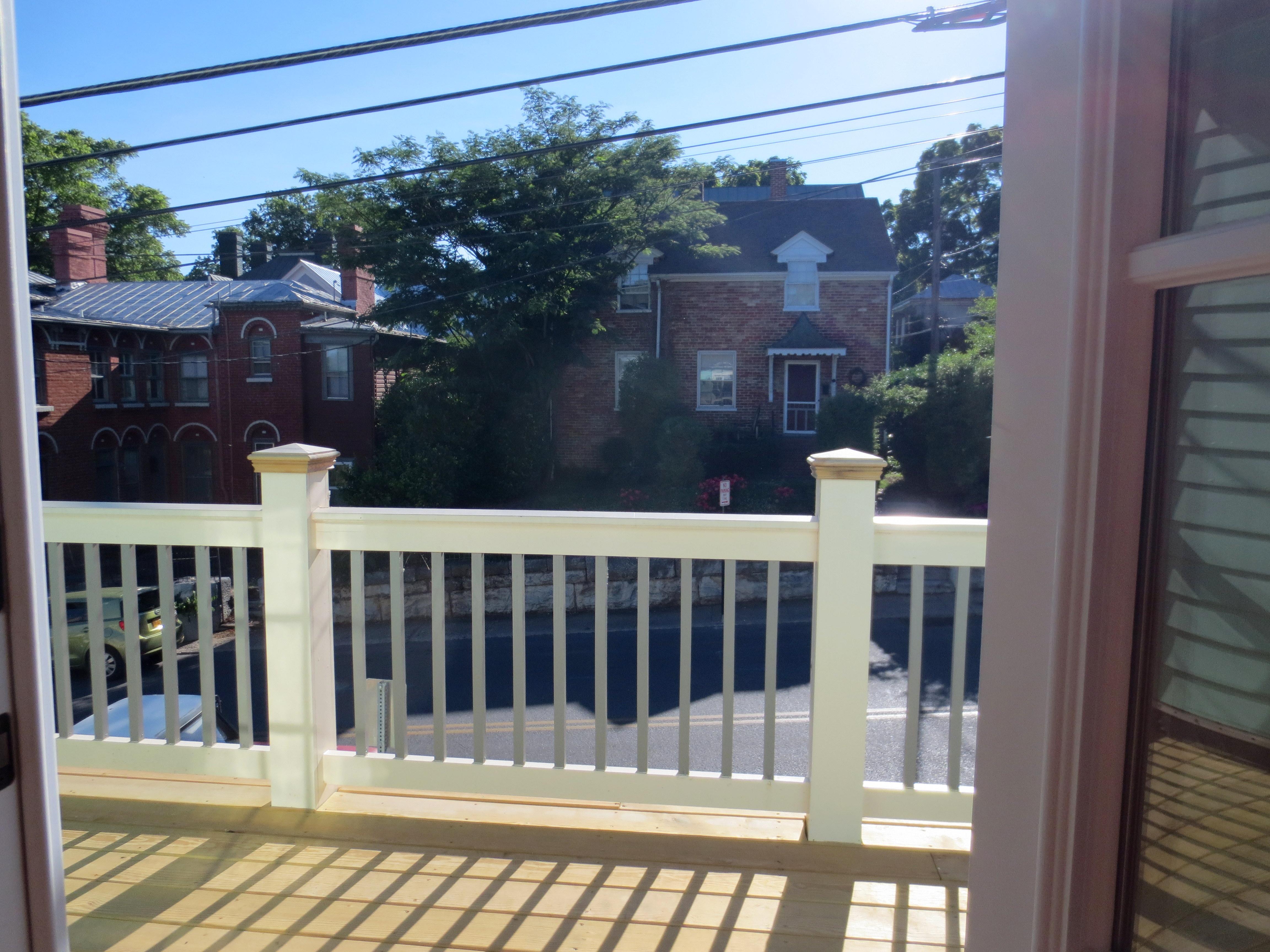 The Landmark restored front balcony