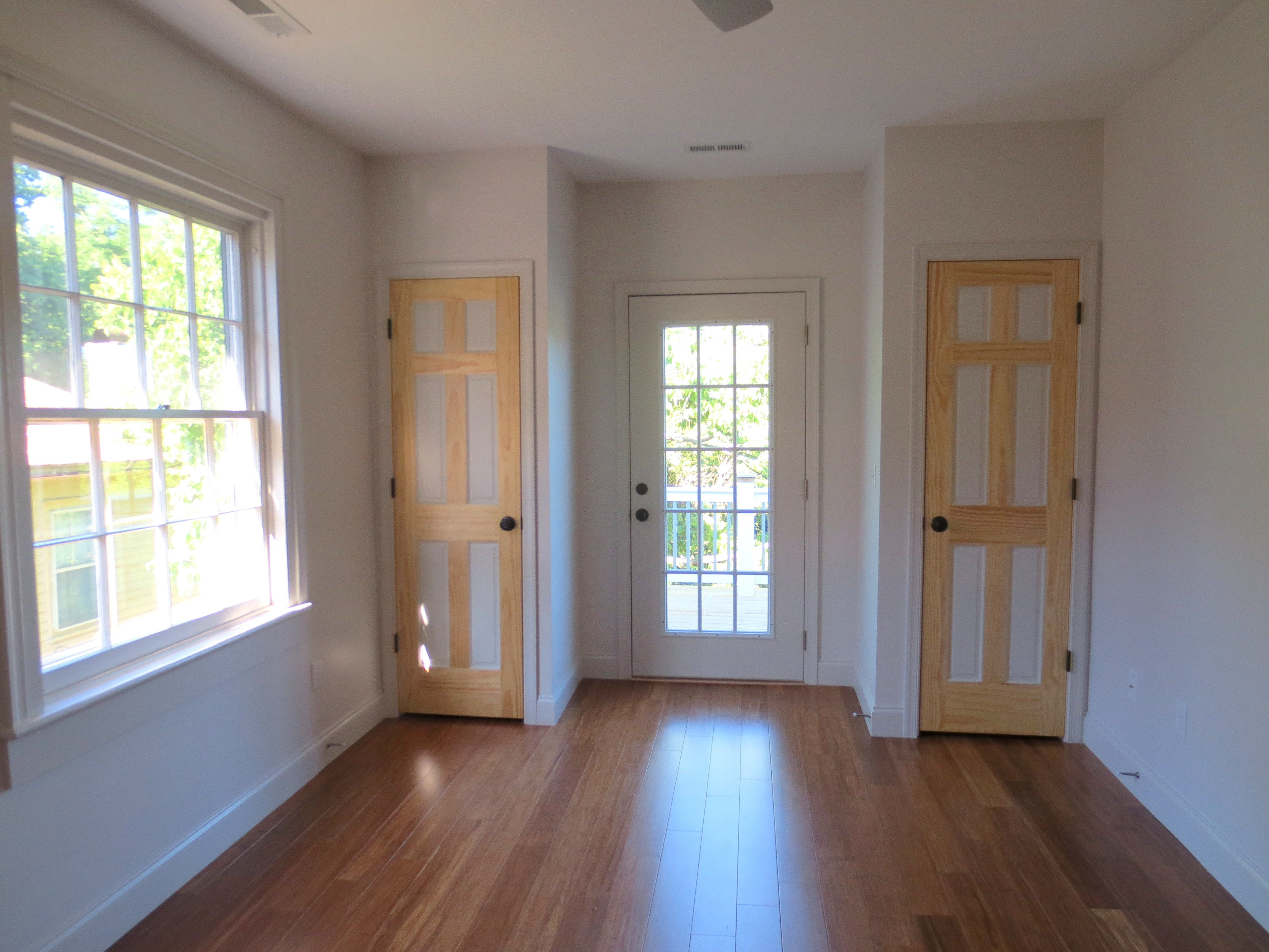 The Landmark restored back bedroom with private balcony