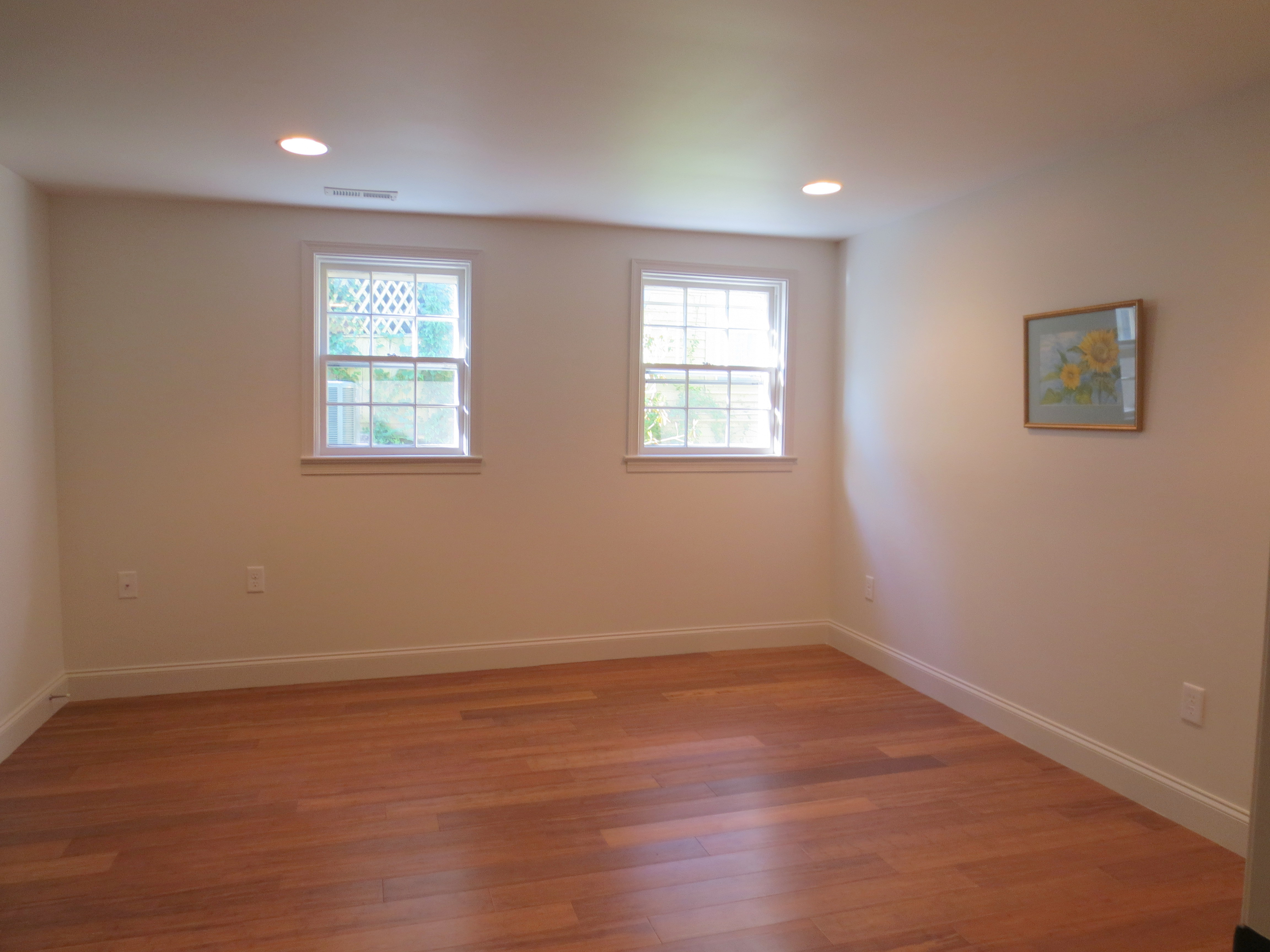 The Landmark restored apartment bedroom