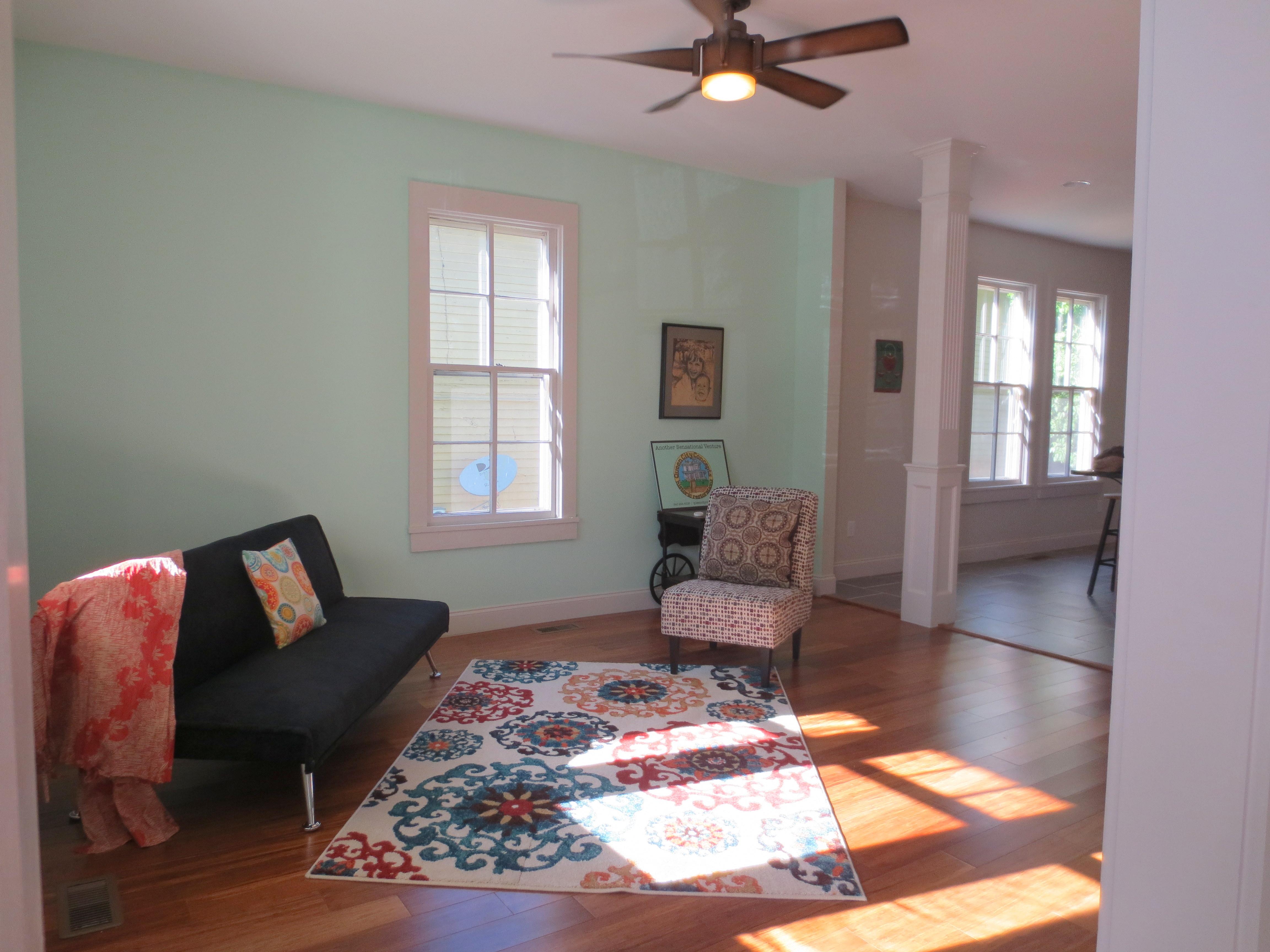 The Landmark restored living room