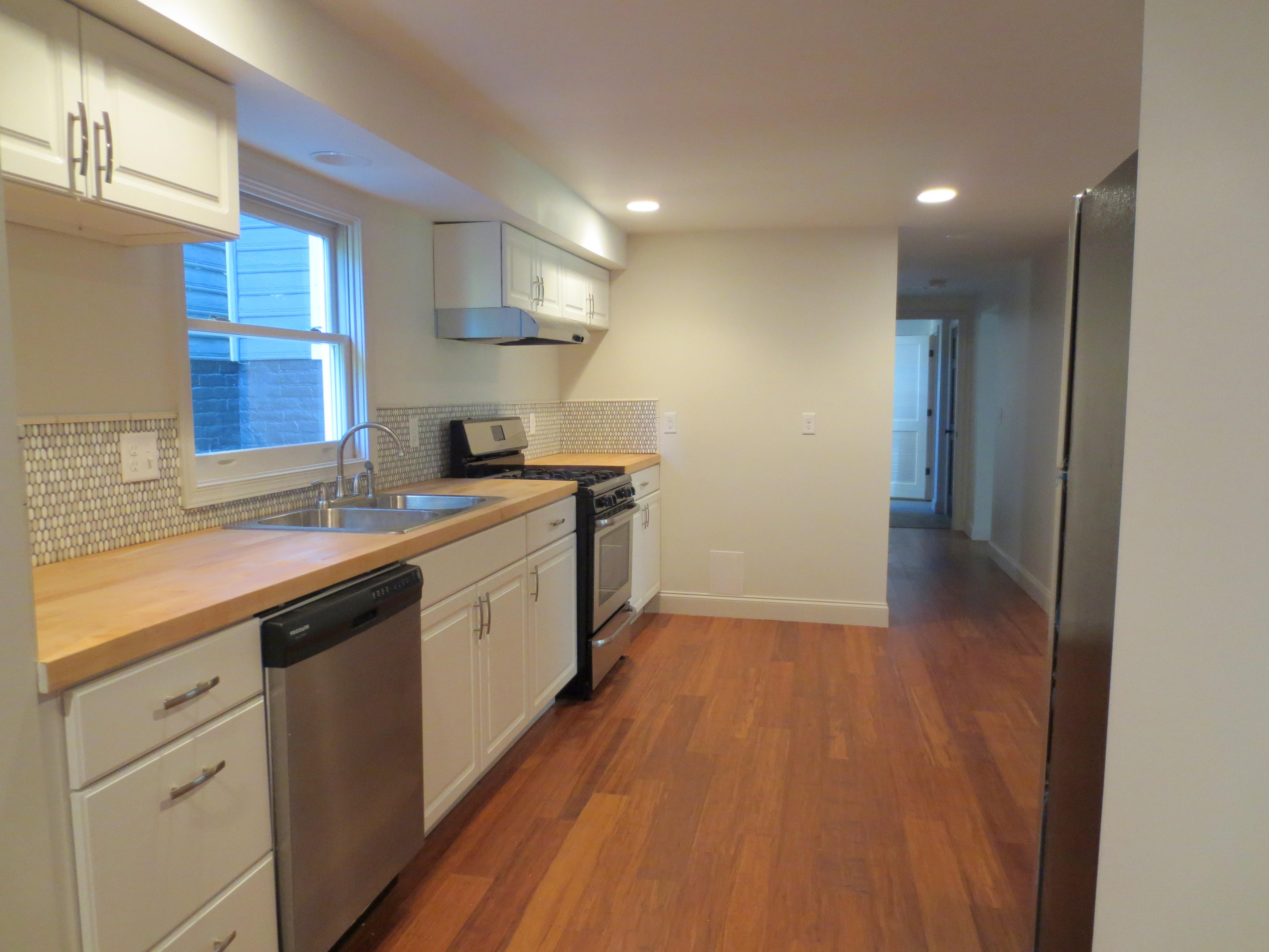 The Landmark restored apartment kitchen