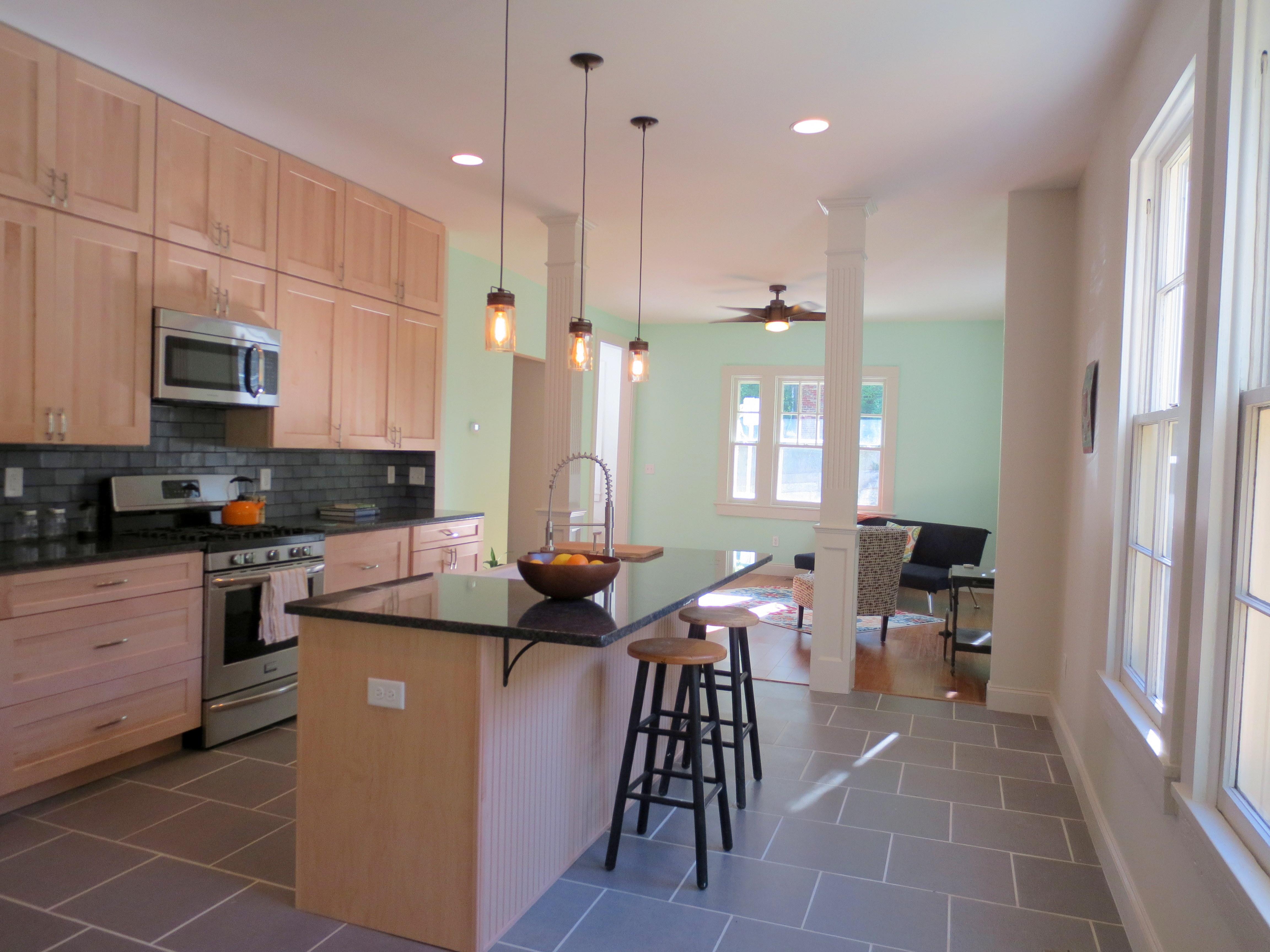 The Landmark restored kitchen