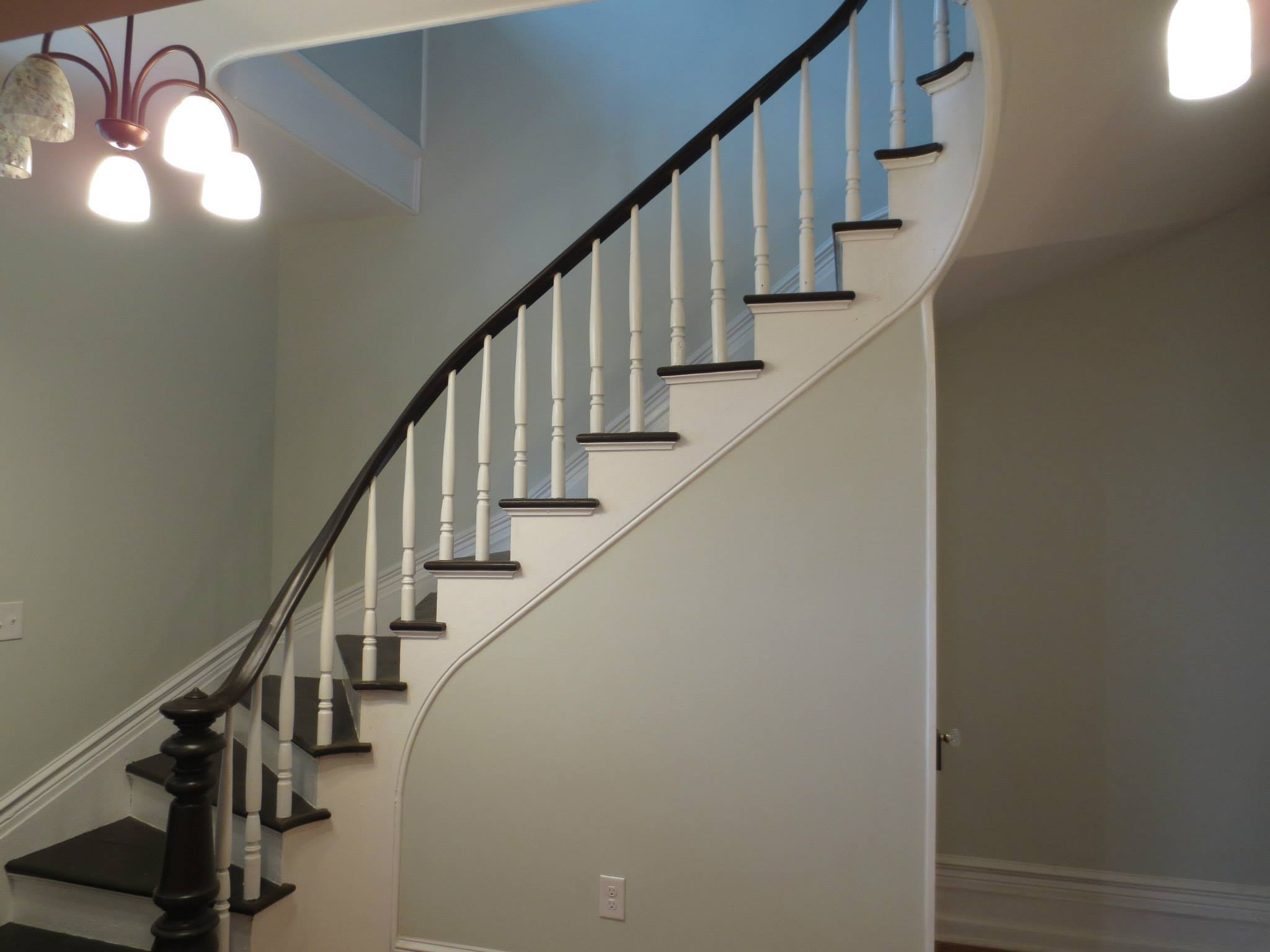 619 frederick st after renovation - spiral staircase