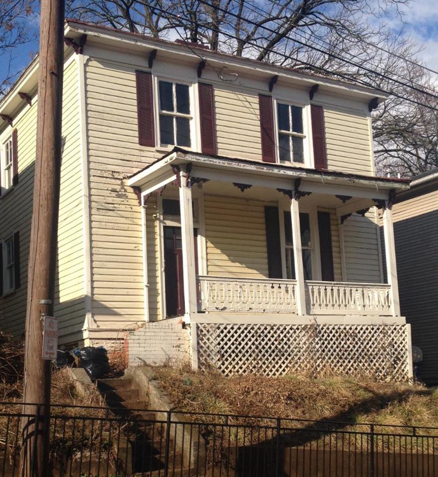 619 frederick st before renovation - exterior